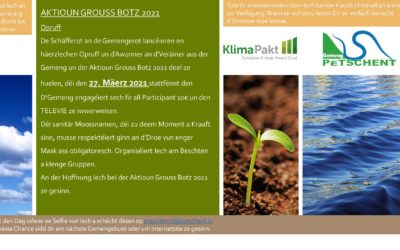 Action Grouss Botz 2021 / Aktioun Grouss Botz 2021