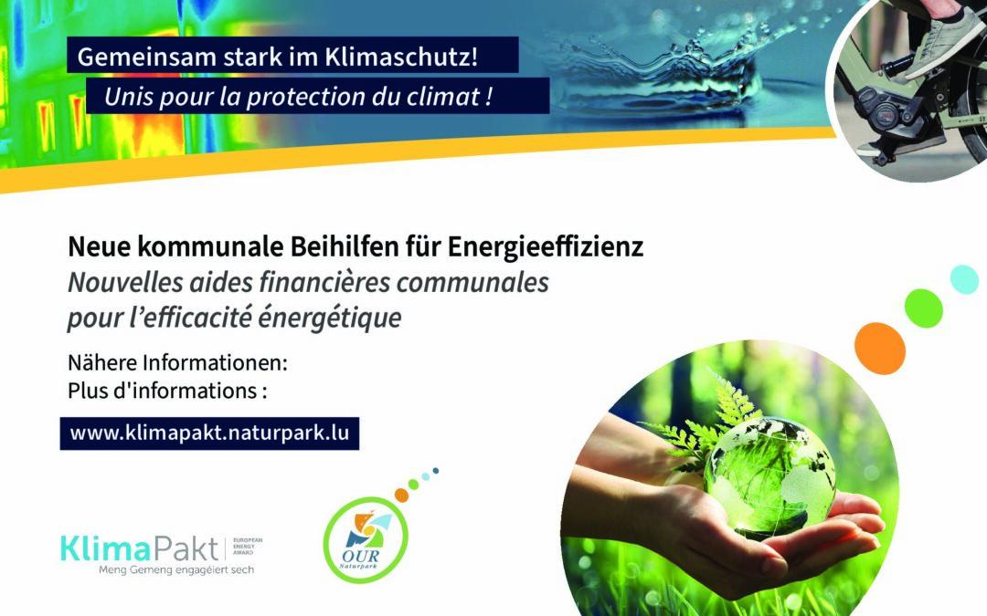 Aides financières communales pour l'efficacité énergétique – Kommunale Beihilfen für Energieeffizienz