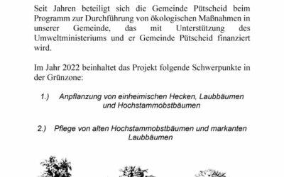 Anpflanzungen 2022 – Beantragung für Bepflanzung