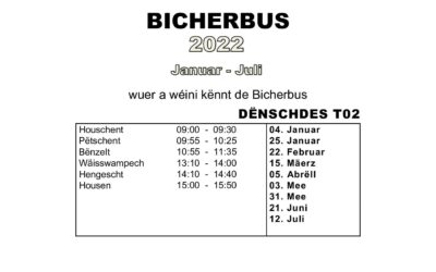 Bicherbus 2022